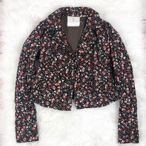 Anthropologie Hei Hei Floral Moto Jacket